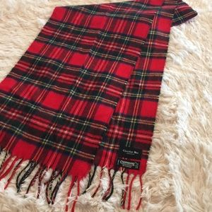 Christian Dior Royal Stewart Red Tartan Scarf